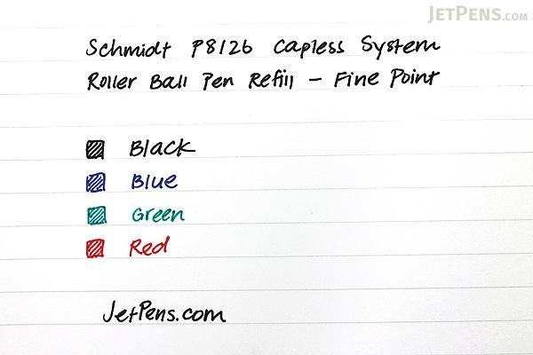 Schmidt P8126 Capless System Rollerball Pen Refill - Fine Point - Black - SCHMIDT 81265