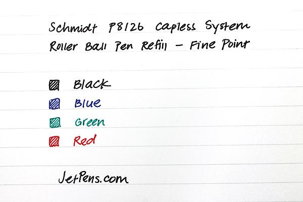 Schmidt P8126 Capless System Rollerball Pen Refill - Fine Point - Blue - SCHMIDT 81266