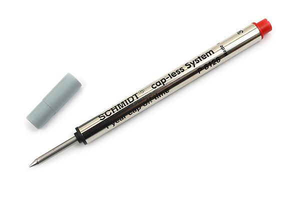 Schmidt P8126 Capless System Rollerball Pen Refill - Fine Point - Red - SCHMIDT 81267