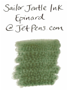 Sailor Fountain Pen Jentle Ink - 50 ml Bottle - Epinard Green - SAILOR 13-1000-260