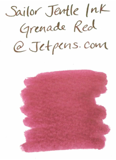 Sailor Fountain Pen Jentle Ink - 50 ml Bottle - Grenade Red - SAILOR 13-1000-253