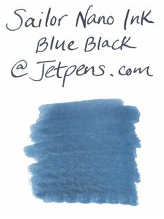 Sailor Fountain Pen Nano Ink Cartridge - Sei-boku (Blue Black) - Pack of 12 - SAILOR 13-0602-144
