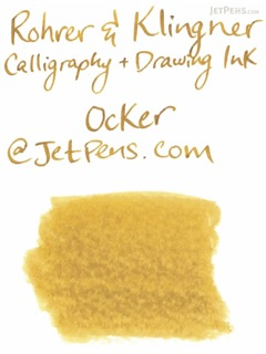 Rohrer & Klingner Calligraphy and Drawing Ink - 50 ml Bottle - Ocker (Orcher Yellow) - ROHRER-KLINGNER 29 762 050