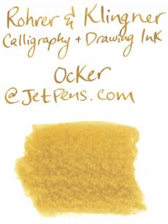 Rohrer & Klingner Calligraphy and Drawing Ink - 50 ml Bottle - Ocker (Orcher Yellow) - ROHRER-KLINGNER 29 762 050