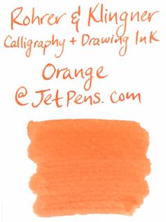 Rohrer & Klingner Calligraphy and Drawing Ink - 50 ml Bottle - Orange - ROHRER-KLINGNER 29 721 050