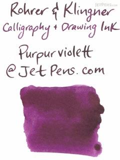Rohrer & Klingner Calligraphy and Drawing Ink - 50 ml Bottle - Purpurviolett (Purple Violet) - ROHRER-KLINGNER 29 738 050