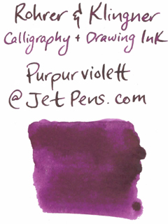 Rohrer & Klingner Calligraphy and Drawing Ink - 50 ml Bottle - Purpurviolett (Purple Violet) - ROHRER-KLINGNER 29 738 050