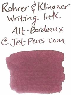 Rohrer & Klingner Writing Ink - 50 ml Bottle - Alt-Bordeaux (Old Bordeaux Red) - ROHRER-KLINGNER 40 330 050