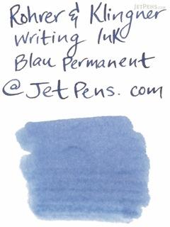 Rohrer & Klingner Writing Ink - 50 ml Bottle - Blau Permanent (Permanent Blue) - ROHRER-KLINGNER 40 450 050