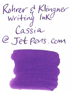 Rohrer & Klingner Writing Ink - 50 ml Bottle - Cassia (Cassia Purple) - ROHRER-KLINGNER 40 410 050