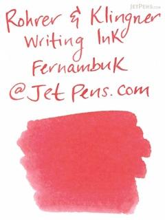 Rohrer & Klingner Writing Ink - 50 ml Bottle - Fernambuk (Pernambuco Pink) - ROHRER-KLINGNER 40 310 050
