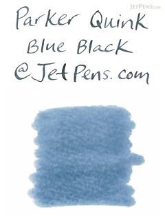 Parker Quink Blue Black Ink - Permanent - 2 oz Bottle - PARKER S0037490