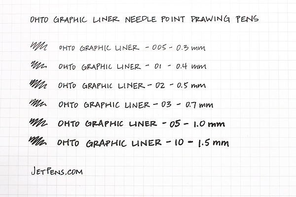 Ohto Graphic Liner Needle Point Drawing Pen - Pigment Ink - 005 - 0.3 mm - Black Ink - OHTO CFR-150GL005