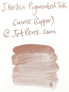 J. Herbin Copper Ink - Pigment - for Dip Pen - 30 ml Bottle - J. HERBIN H135/06