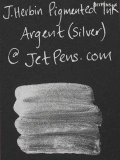 J. Herbin Silver Ink - Pigment - for Dip Pen - 30 ml Bottle - J. HERBIN H135/05