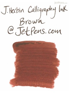 J. Herbin Brown Calligraphy Ink - for Dip Pen - 50 ml Bottle - J. HERBIN H114/40