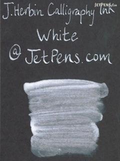J. Herbin White Calligraphy Ink - for Dip Pen - 50 ml Bottle - J. HERBIN H114/01