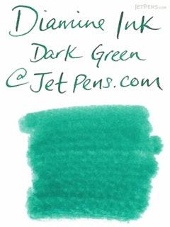 Diamine Dark Green Ink - 80 ml Bottle - DIAMINE INK 7022