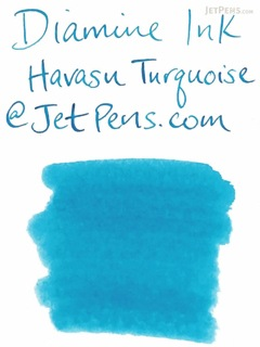 Diamine Havasu Turquoise Ink - 80 ml Bottle - DIAMINE INK 7064