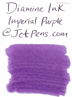 Diamine Imperial Purple Ink - 18 Cartridges - DIAMINE INK 8005