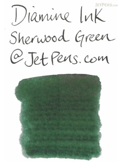 Diamine Sherwood Green Ink - 80 ml Bottle - DIAMINE INK 7074