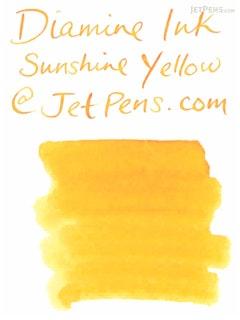 Diamine Sunshine Yellow Ink - 80 ml Bottle - DIAMINE INK 7027