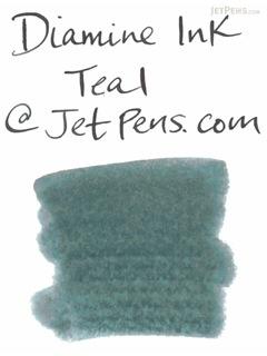 Diamine Fountain Pen Ink Cartridge - Teal - Pack of 18 - DIAMINE INK 8052
