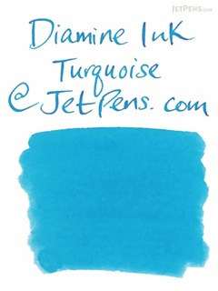 Diamine Turquoise Ink - 18 Cartridges - DIAMINE INK 8003