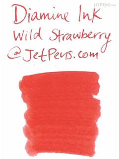 Diamine Wild Strawberry Ink - 80 ml Bottle - DIAMINE INK 7085