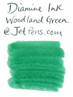 Diamine Fountain Pen Ink Cartridge - Woodland Green - Pack of 18 - DIAMINE INK 8037