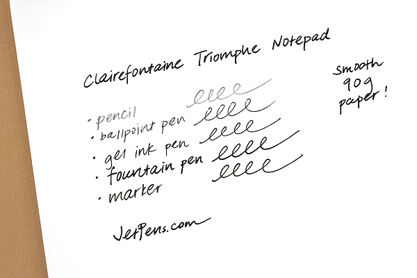 Clairefontaine Triomphe Notepad - A4 - Blank - 50 Sheets - Bundle of 5 - CLAIREFONTAINE 6170 BUNDLE