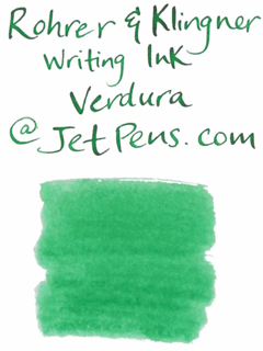 Rohrer & Klingner Writing Ink - 50 ml Bottle - Verdura (Verdure Green) - ROHRER-KLINGNER 40 520 050