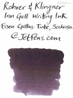 Rohrer & Klingner Writing Ink - 50 ml Bottle - Eisen-Gallus-Tinte Scabiosa (Iron/Gall Nut-ink Scabiosa Purple) - ROHRER-KLINGNER 40 710 050