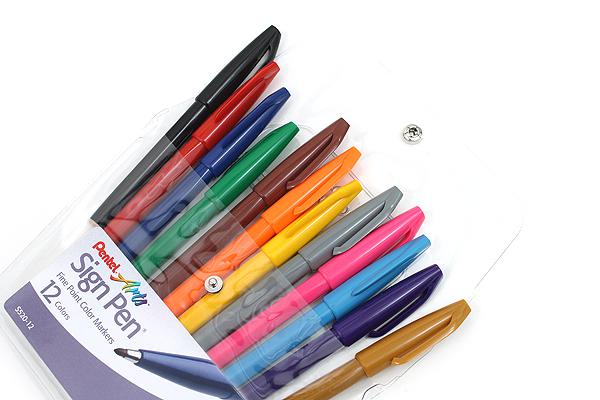Pentel Sign Pen - Fine Point - 12 Color Set - PENTEL S520-12