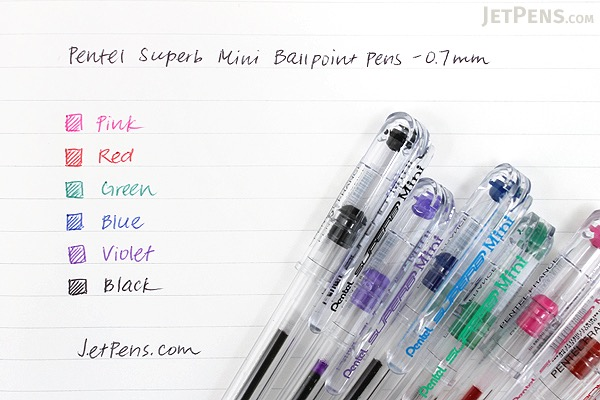 Pentel Superb Mini Ballpoint Pen - 0.7 mm - Violet - PENTEL BK77S-V