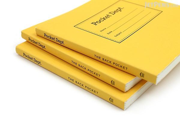 """Princeton Architectural Press Pocket Dept. Back Pocket Notebook - 4"""" x 4"""" - Blank - Pack of 3 - PRINCETON AP 978-1-61689-199-2"""