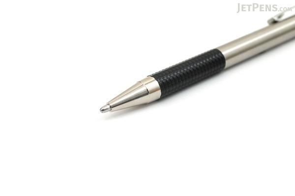 Zebra F-301 Bold Stainless Steel Retractable Ballpoint Pen - 1.6 mm - Black - ZEBRA 27311