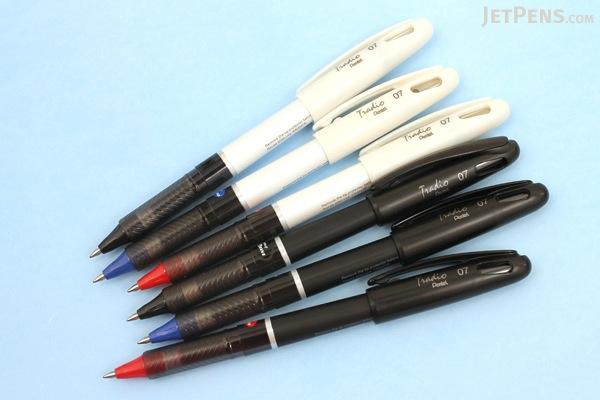Pentel EnerGel Tradio Gel Pen - 0.7 mm - White Body - Black Ink - PENTEL BL117W-A