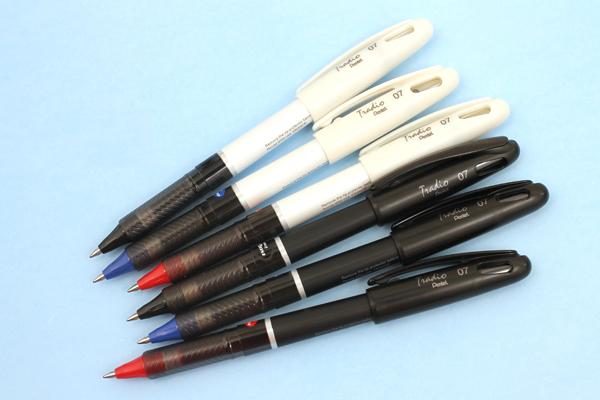 Pentel EnerGel Tradio Gel Pen - 0.7 mm - White Body - Red Ink - PENTEL BL117W-B