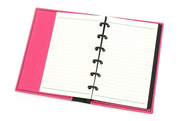 Lihit Lab The Design Mind Company System Binder - Red Pink - LIHIT LAB D7260-3