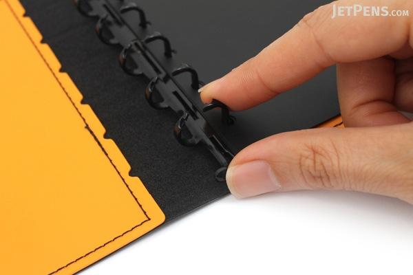 Lihit Lab The Design Mind Company System Binder - Orange - LIHIT LAB D7260-4