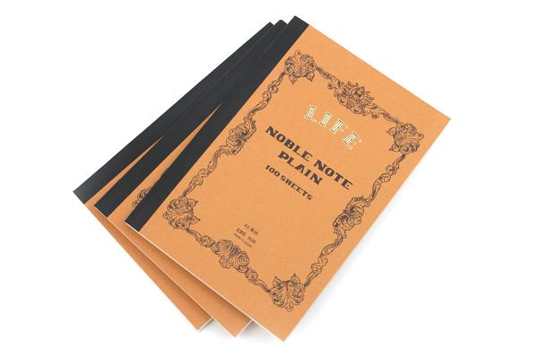 Life Noble Notebook - A5 - Plain - Bundle of 3 - LIFE N36 BUNDLE