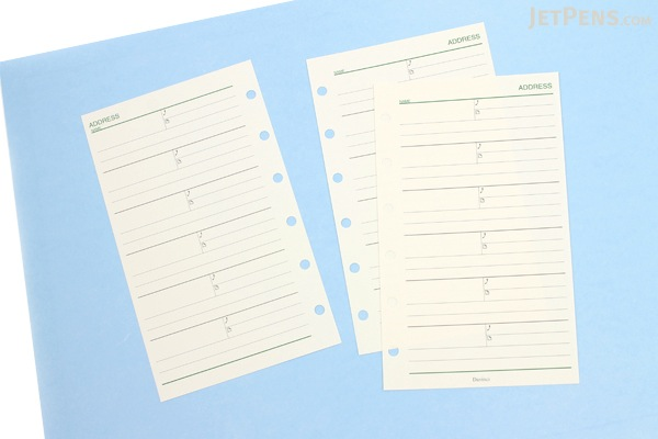 Raymay Davinci Refill Pages - Pocket Size - Address - 10 Sheets - RAYMAY DPR252