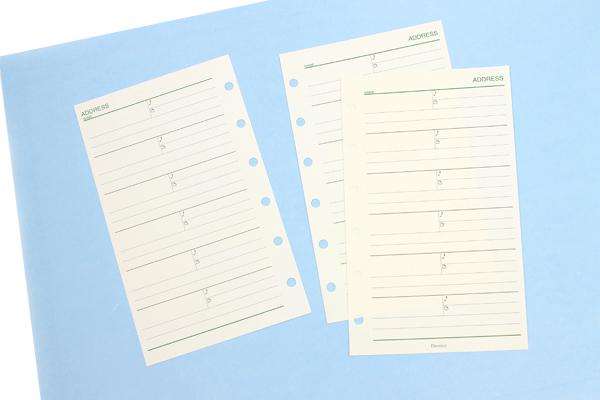 Raymay Davinci Refill Pages - Pocket Size - Address - 10 Sheets - RAYMAY DPR252
