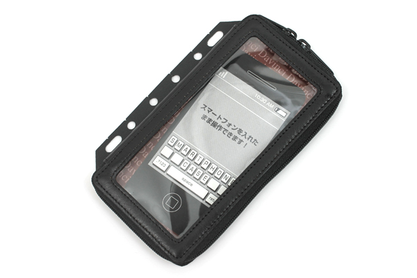 Raymay Davinci Smartphone Case for System Binder - Size S - Black - RAYMAY DR228B