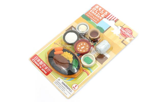 Iwako Family Restaurant Novelty Eraser - 7 Piece Set - IWAKO ER-BRI034