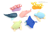 Iwako Aquarium Novelty Eraser - 7 Piece Set - IWAKO ER-BRI031