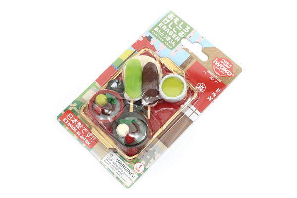 Iwako Anmitsu Shop Novelty Eraser - 7 Piece Set - IWAKO ER-BRI033