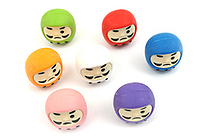 Iwako Color Daruma Novelty Eraser - 7 Piece Set - IWAKO ER-BRI030