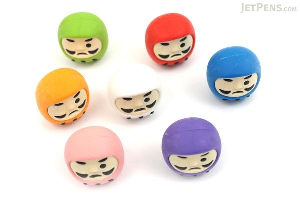 Iwako Color Daruma Novelty Eraser - 7 Piece Set - IWAKO ER-BRI030